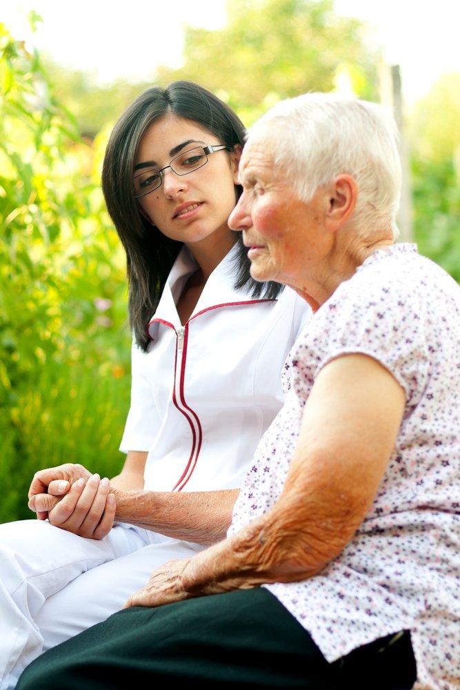 a caregiver offering eldercare